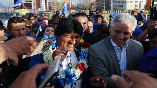 Fórmula. Morales y su vicepresidente