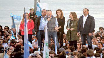 Junto al río. Macri ayer protagonizó su acto en Corrientes.