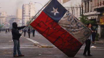 Protestas en las calles de Valparaíso.