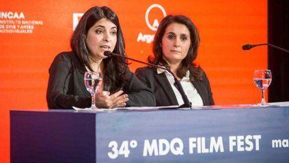 Directora. Cecilia Barrionuevo (izquierda), en el anuncio oficial.