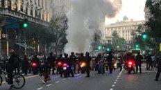 La Policía de la Ciudad indicó que por los incidentes detuvieron a nueve personas.