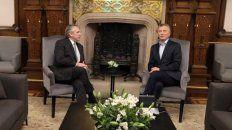El presidente electo, Alberto Fernández, y el actual primer mandatario, Mauricio Macri, se reunieron esta mañana en la Casa Rosada.