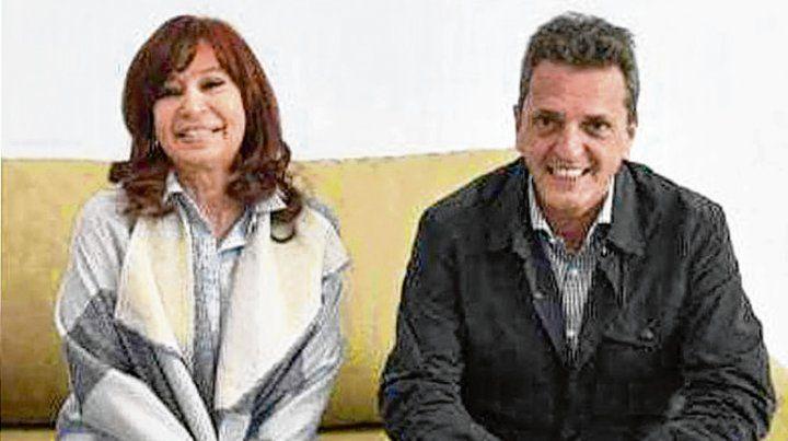 La primera. CFK y Massa