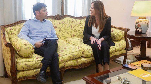 mano a mano. Kicillof dialogó con Vidal en La Plata.