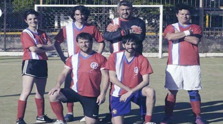 Equipo. Sánchez contó que el casting consistió en jugar el fútbol.