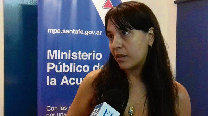 Acusadora. La fiscal Alejandra del Río Ayala investiga al sospechoso.