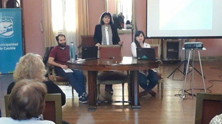 Presentación. Los resultados del trabajo fueron expuestos en el Salón Dorado del municipio casildense.