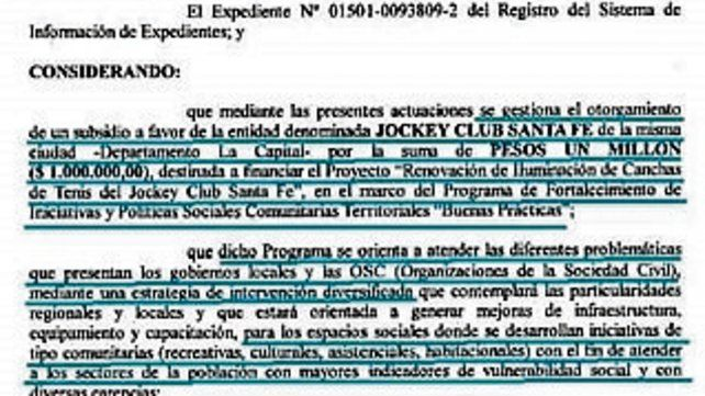 Enojo por un subsidio de la provincia al Jockey Club de Santa Fe