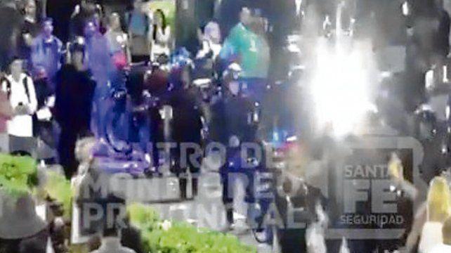 Después del final. Hubo enfrentamientos con policías.