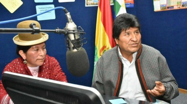 Evo Morales aterrizó en la ciudad de Colquiri tras sufrir la máquina un fallo mecánico.