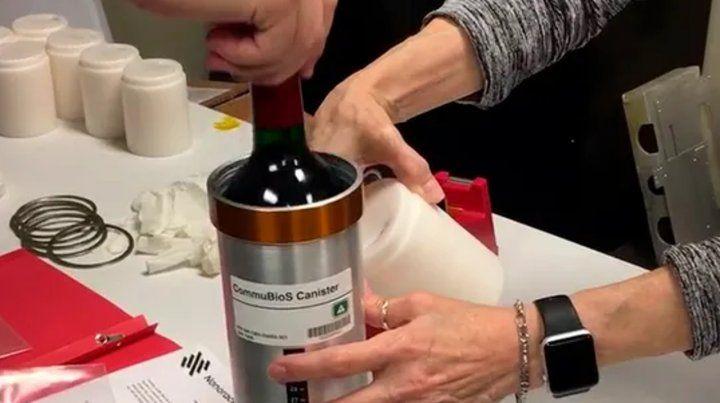 La Estación Espacial Internacional recibió una docena de botellas de vino