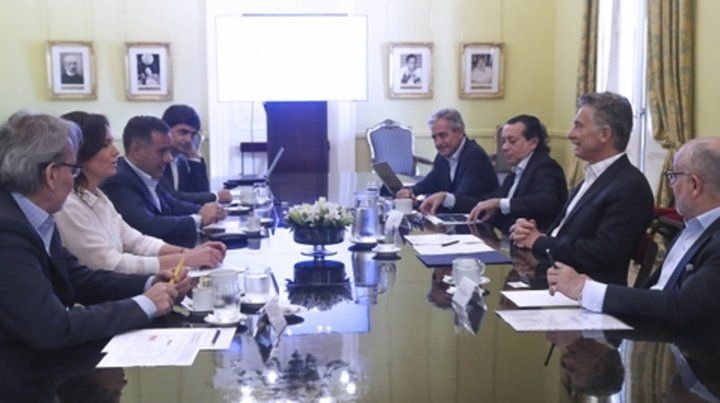 Equipo ministerial. Macri reunió a parte de su gabinete en los últimos días de su mandato.