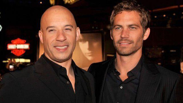 Vin Diesel con el fallecido Paul Walker