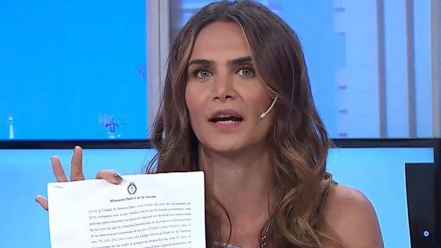 Amalia Granata quedó involucrada en la denuncia por abuso de la hija de Andrea del Boca