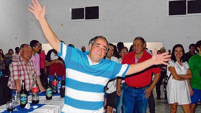 Eduardo Martí. El empleado judicial festejó el premio del Quini con una fiesta para medio Villa Dolores.