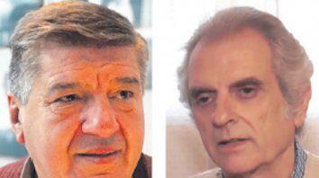 El jefe comunal, José Lenguina, y el electoNéstor Parnasso.