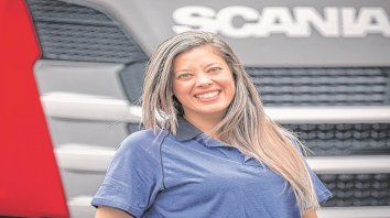Plena felicidad. Mi sueño siempre fue ser camionera, admite Elisa.