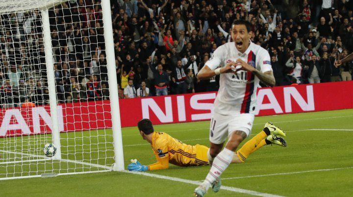 Di María e Icardi, goles rosarinos para el triunfo del líder PSG en Francia