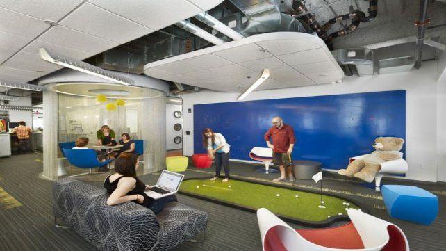 Tendencia. Un sector de descanso en una oficina de Google.