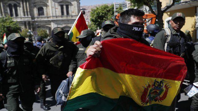 Rebeldía. Policías de La Paz