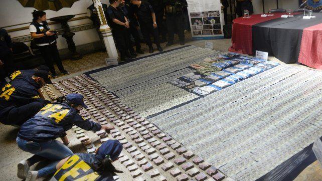 Evidencia. Cocaína incautada a la red liderada desde la cárcel de Piñero.
