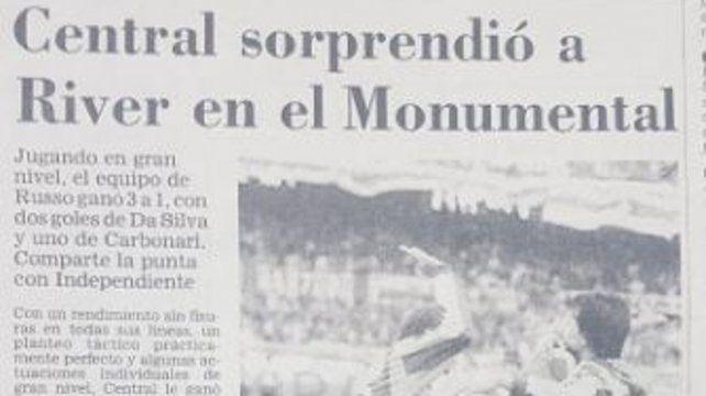 Tras 22 años, Central volvió a ganar en el Monumental