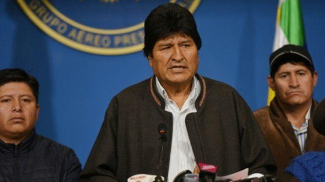 Renuncia. Evo Morales habla al país para anunciar su dimisión al cargo y denunciar un golpe.