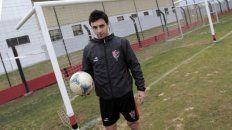 El regreso. Scocco en 2012 cuando retornó al Parque tras su paso por Al Ain.