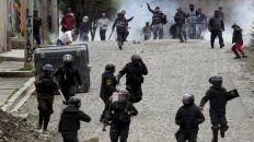 violencia. Ayer se extendían las protestas de los seguidores de Evo en La Paz.