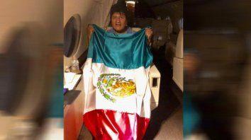 Evo Morales, en el avión rumbo a México.