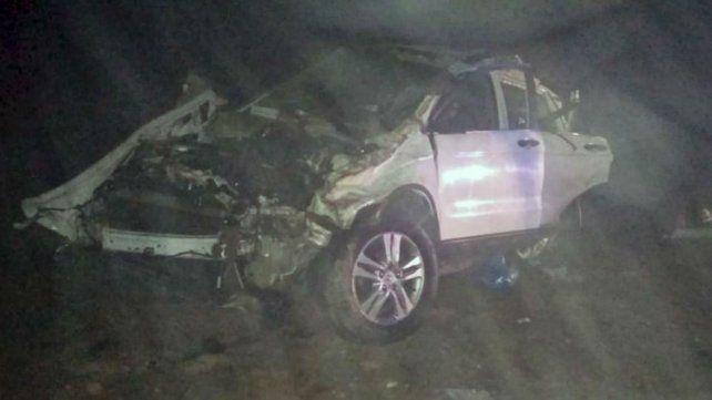 El auto que era conducido por Pepo.