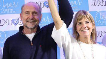 Omar Perotti y Alejandra Rodenas.