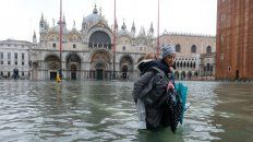 Dramáticas imágenes de la inundación en Venecia