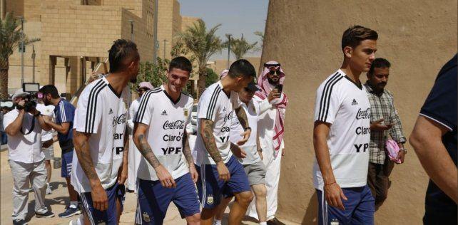 La selección argentina se instaló en Riad