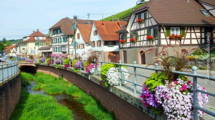 Los llamados riachuelos de Friburgo son unos estrechos canales de agua cristalina que surcan las calles del centro histórico de la ciudad.