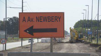 Cartel de desvío. Entre los proyectos, se incluyó avenida Jorge Newbery entre Circunvalación y Wilde.