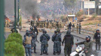 Cinco muertos por la represión policial en marcha en Bolivia