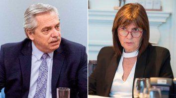 Alberto Fernández y Patricia Bullrich polemizaron ayer por temas de seguridad y los últimos aumentos de combustibles.