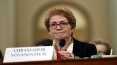 Yovanovitch, el viernes ante la comisión de la Cámara de Representantes que investiga a Trump.