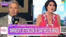 Burlando contó que Juan Darthés está muy enojado
