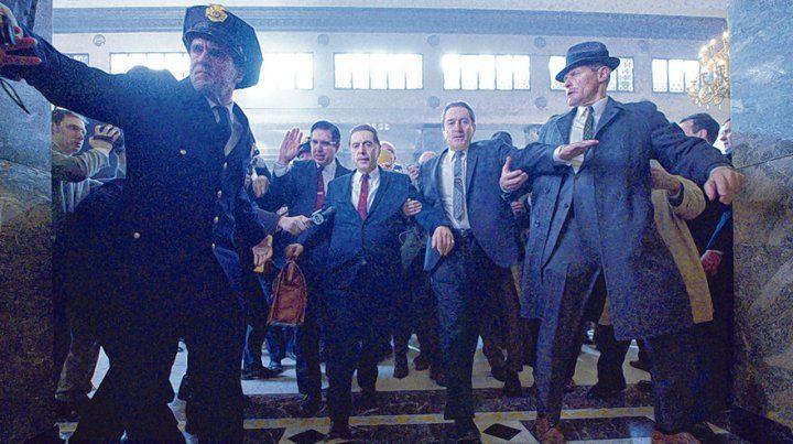 Equipo. Pacino y De Niro son los ejes de una trama basada en la muerte del sindicalista Jimmy Hoffa.