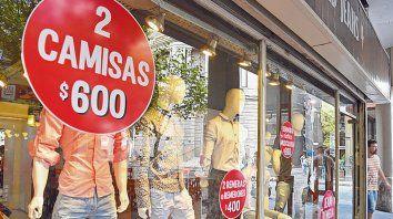 Inflación. El rubro de indumentaria fue el que encabezó las subas de precio en octubre, según el Ipec..