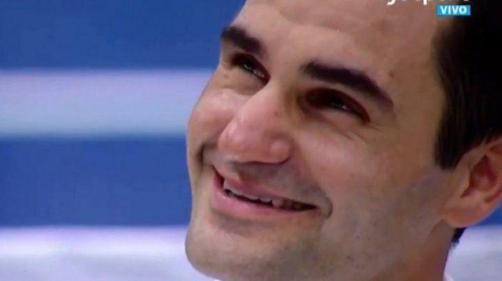 El mensaje de Maradona que emocionó a Federer en el estadio