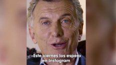 Macri convoca a una conversación a través de Instagram
