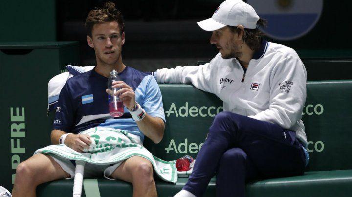 Schwartzman perdió con Nadal y la serie ante España se define en el dobles