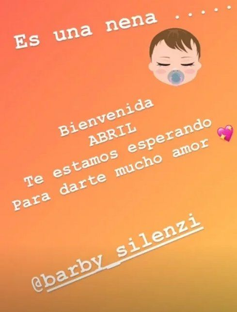 El Polaco reveló el sexo y el nombre del bebé que espera con Barby Silenzi