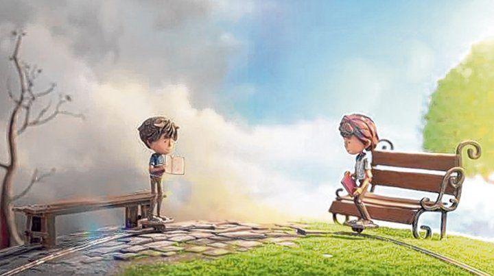 En Cogs los personajes son chicos que se ven a la distancia y quieren compartir sus lecturas