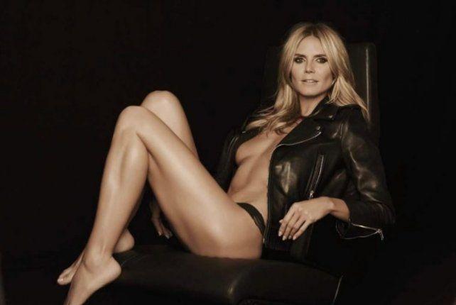 La supermodelo Heidi Klum sorprendió con una foto sin ropa