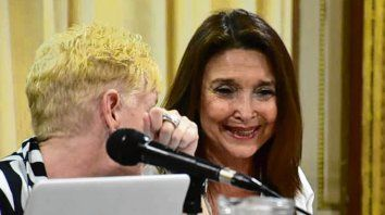 Marisa Graham, defensora nacional de la Niñez, participó del conversatorio.