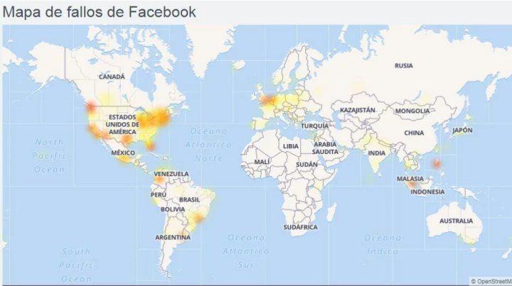 Facebook e Instagram tuvieron fallas en varias partes del mundo